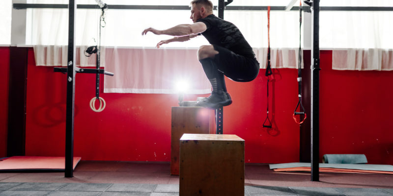 box jump training