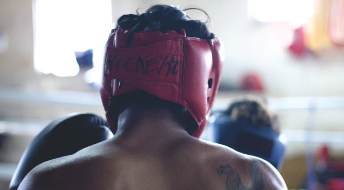 Red Boxing Headgear
