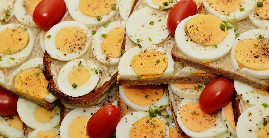 Boiled Eggs and Tomatoes