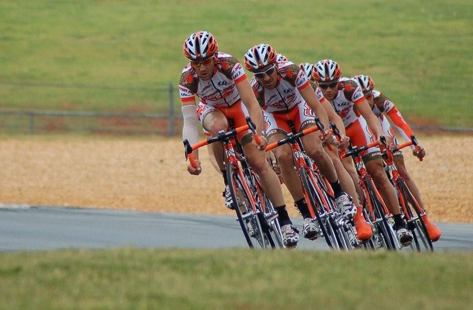 Athletes Cycling
