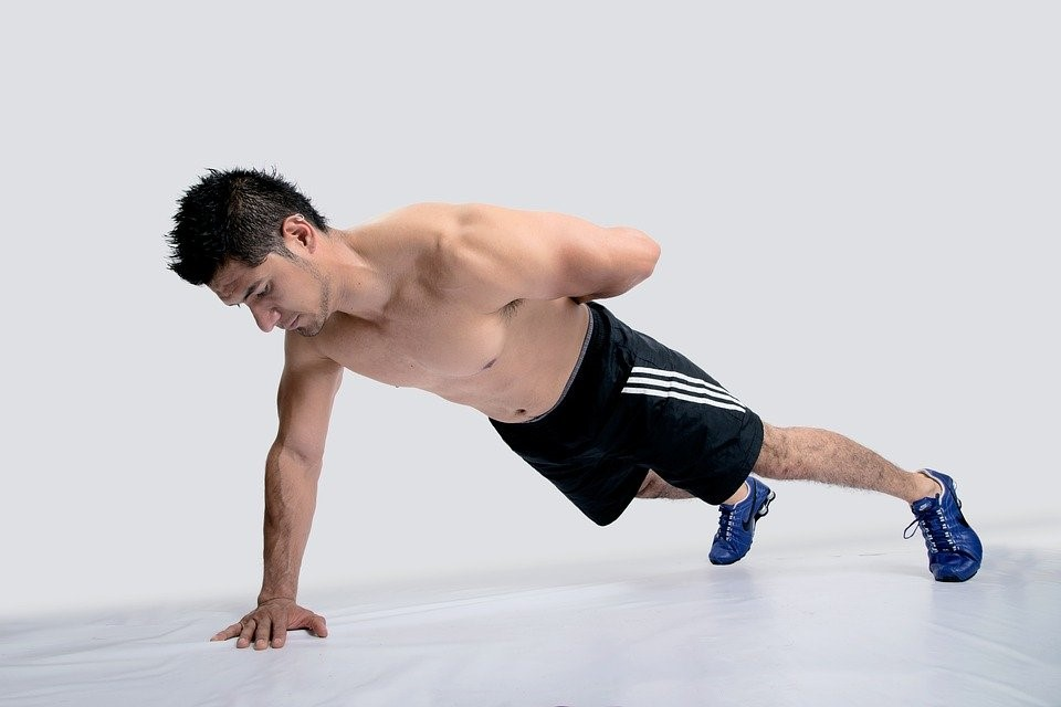One Handed Pushups