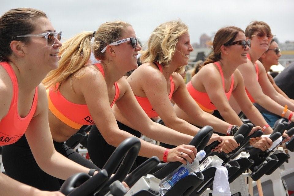 Team of Women Cycling