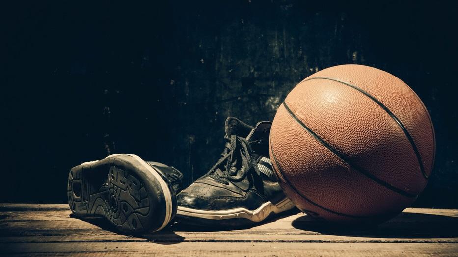 basketball shoes with basketball